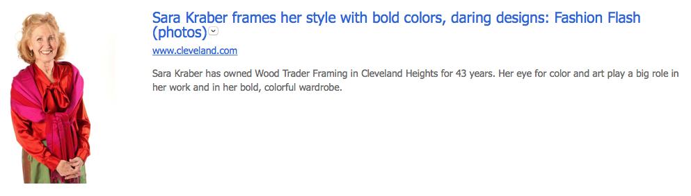 Wood Trader's Sara Kraber featured in Plain Dealer